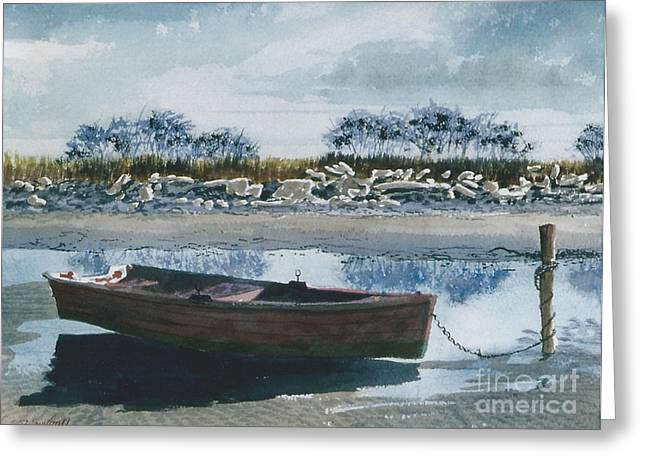Plies Greeting Cards - On the Sandbars Greeting Card by Gerald Bienvenu