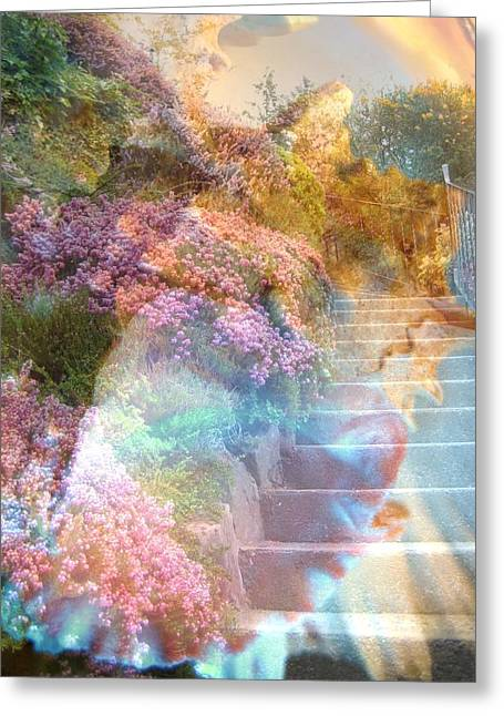 Mauve Greeting Cards - On the Seventh Day Greeting Card by Shirley Sirois