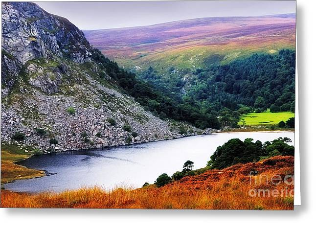 Jenny Rainbow Photographs Greeting Cards - On the Shore of Lough Tay. Wicklow. Ireland Greeting Card by Jenny Rainbow
