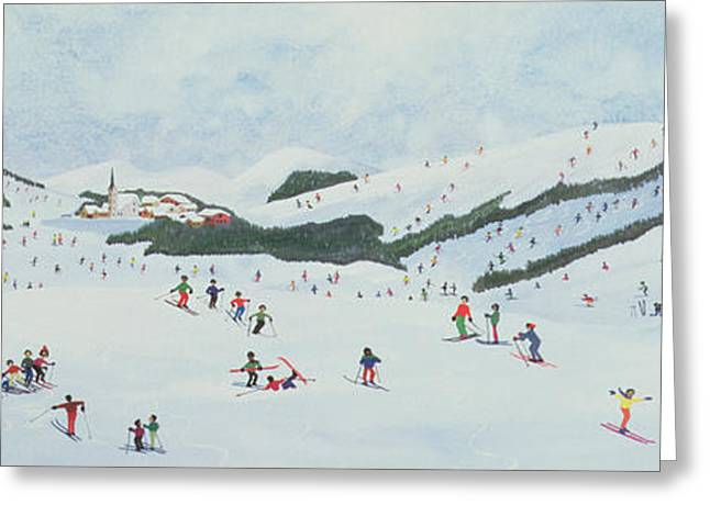 The Hills Greeting Cards - On the Slopes Greeting Card by Judy Joel