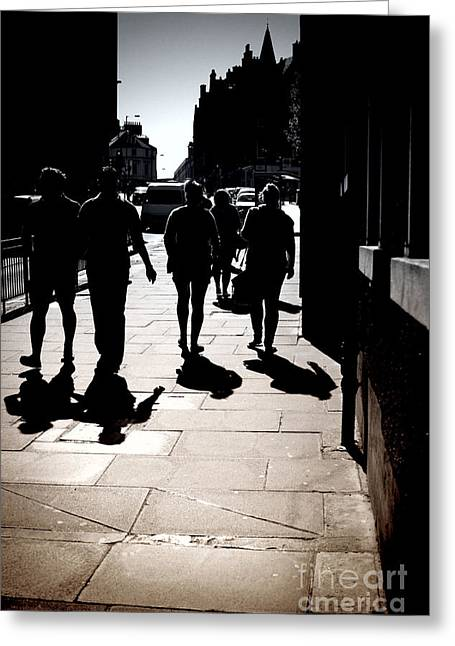 Ambience Greeting Cards - On the Street Greeting Card by Craig B