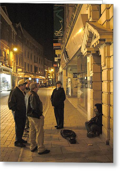 Night Scenes Greeting Cards - On the Street  Greeting Card by Mike McGlothlen