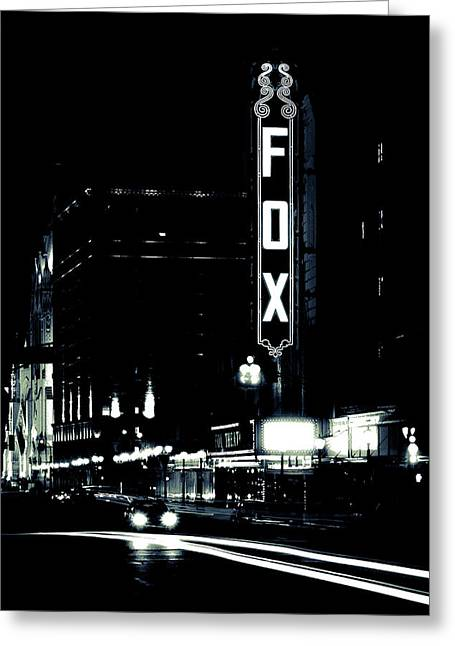 Recently Sold -  - Illuminate Greeting Cards - On the Town Greeting Card by Scott Rackers