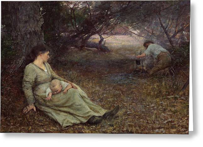 Frederick Greeting Cards - On the wallaby track Greeting Card by Frederick McCubbin