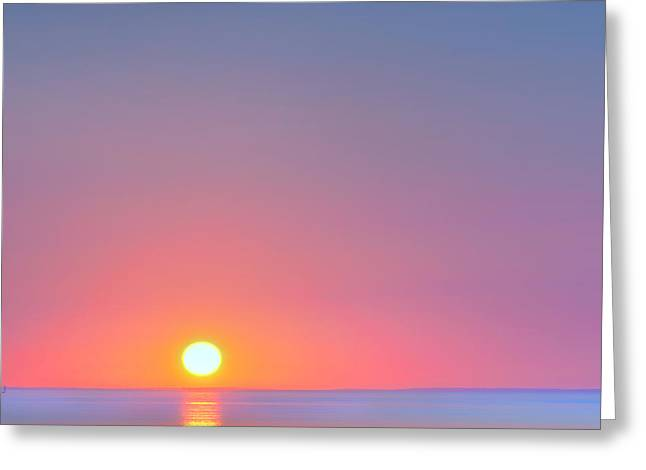 Soft Colour Greeting Cards - On the Water Square Greeting Card by Bill  Wakeley