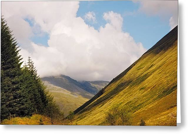 Beautiful Scenery Greeting Cards - On the Way. Scotland Greeting Card by Jenny Rainbow