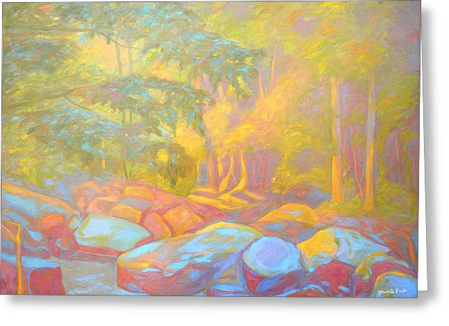 Impressionist Greeting Cards - On the Way to the Cascades Greeting Card by Kendall Kessler