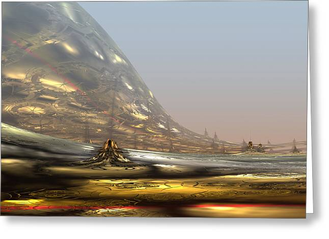 Display Contemporary Art Office Digital Art Greeting Cards - On the way to the Inner Tibet. 2013 80/64 cm.  Greeting Card by Tautvydas Davainis
