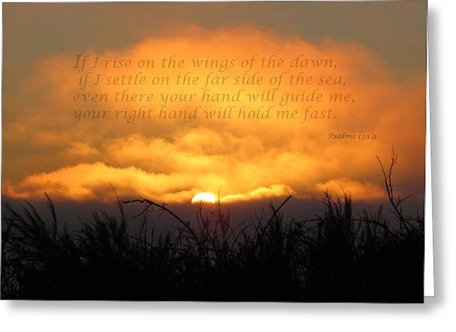 On The Wings Of The Morning Greeting Cards - On the Wings of the Dawn Greeting Card by Angie Vogel