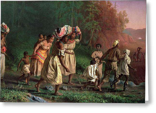 African-americans Greeting Cards - On To Liberty, 1867 Greeting Card by Theodor Kaufmann