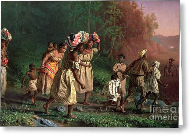 Abolitionist Paintings Greeting Cards - On to Liberty Greeting Card by Theodor Kaufmann