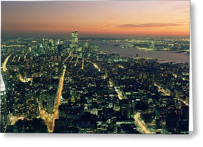 On Top Of The City Greeting Card by Jon Neidert