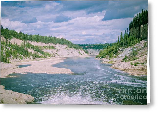 Skinny Digital Greeting Cards - On top of the Falls Greeting Card by Lisa Killins