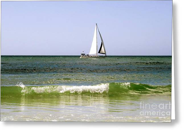 Sailboat Photos Greeting Cards - On vacation Greeting Card by Zina Stromberg
