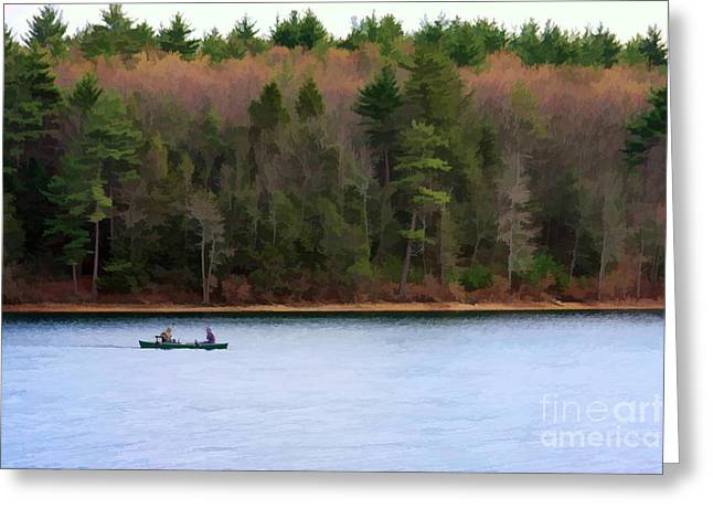 Walden Pond Greeting Cards - On Walden Pond Greeting Card by Jayne Carney