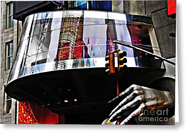 Midtown Greeting Cards - On West 42nd Street 3 Greeting Card by Sarah Loft