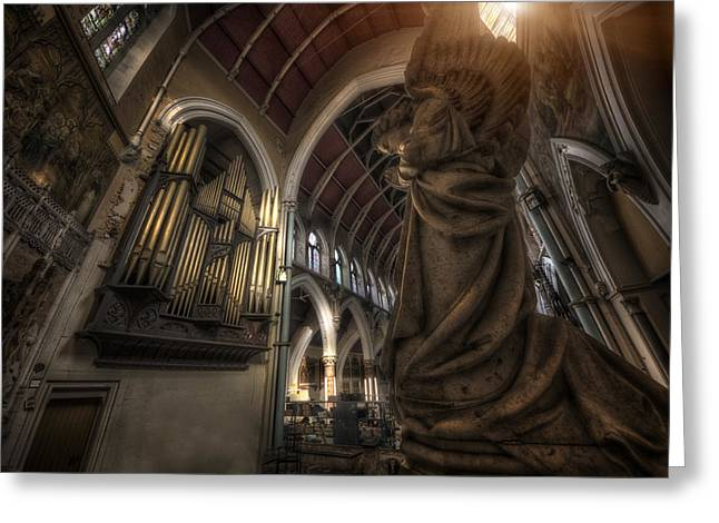 St Marys Greeting Cards - On your Knees Greeting Card by Jason Green