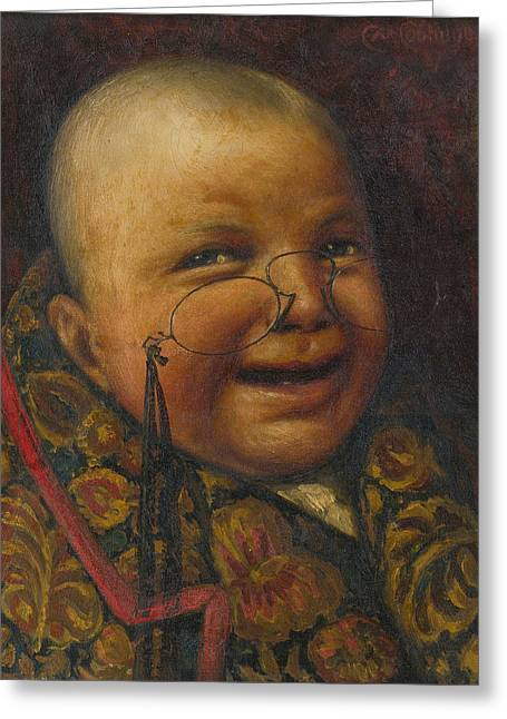 Marcelli Greeting Cards - Once a Man. Twice a Child Greeting Card by Cassius Marcellus Coolidge