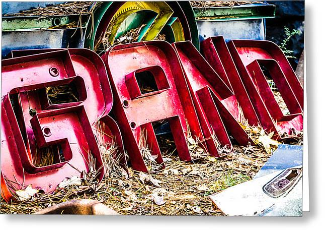 Rusted Cars Greeting Cards - Once Grand Greeting Card by Caisues Photography
