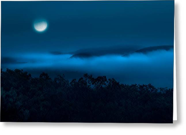 Bill Wakeley Photography Greeting Cards - Once in a blue moon Greeting Card by Bill  Wakeley