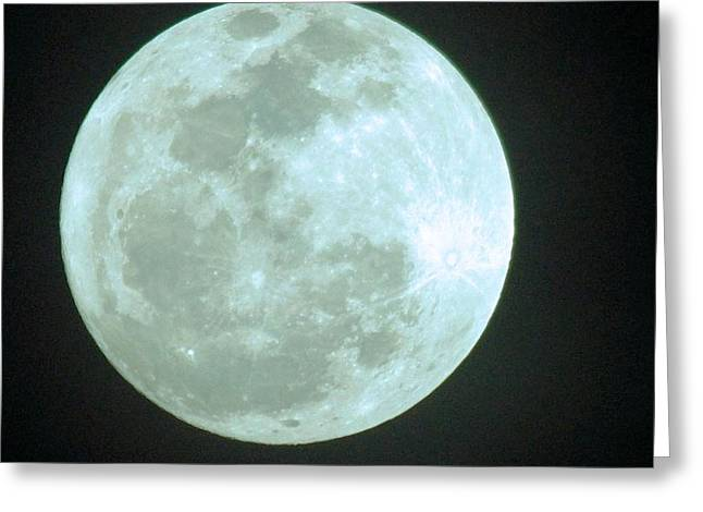 David Rizzo Greeting Cards - Once in a blue moon Greeting Card by David Rizzo