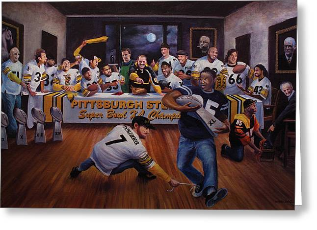 Jerome Bettis Greeting Cards - Once in a Blue Moon Greeting Card by Frederick Carrow