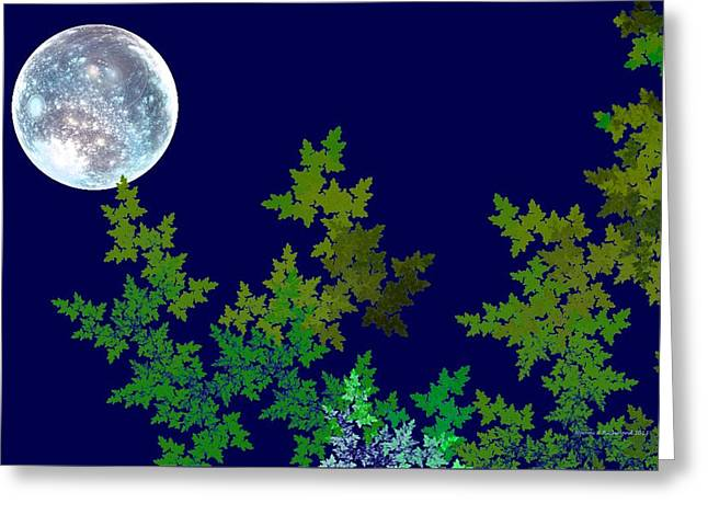 Sea Moon Full Moon Greeting Cards - Once In A Blue Moon Greeting Card by Naomi Richmond