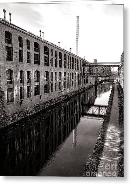 Former Greeting Cards - Once Industrial Georgetown Greeting Card by Olivier Le Queinec