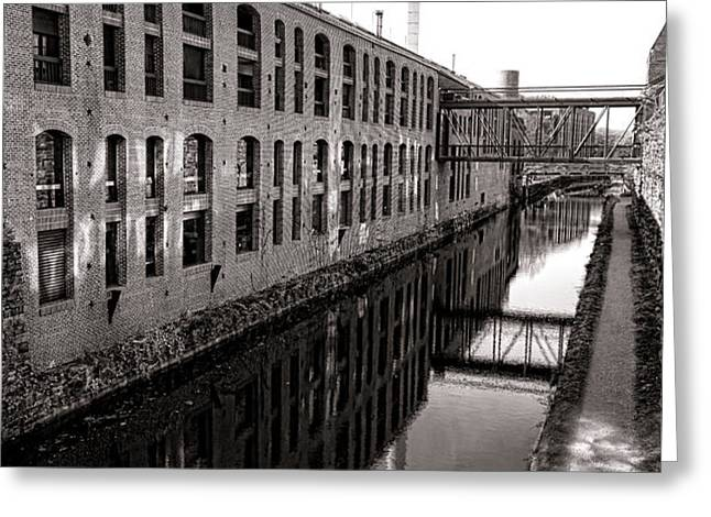 Once Industrial Georgetown Greeting Card by Olivier Le Queinec