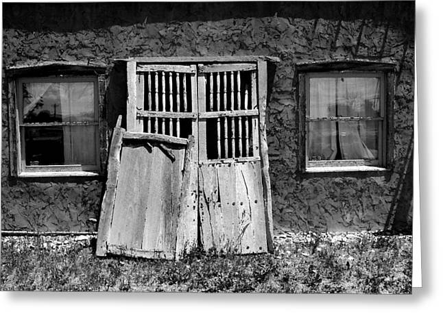 New To Vintage Photographs Greeting Cards - Once Lived In II Greeting Card by Lanita Williams