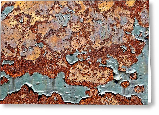 Industrial Background Greeting Cards - Once Painted Greeting Card by Olivier Le Queinec