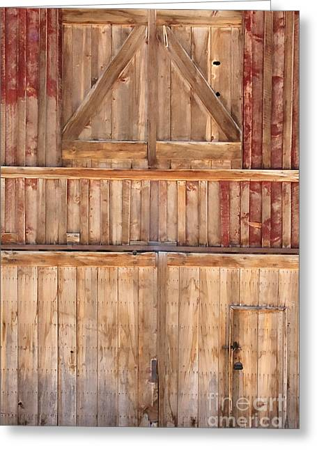 Once Red Doors Greeting Card by Margie Hurwich