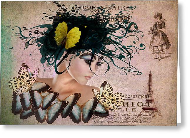 Belles Mixed Media Greeting Cards - Once Upon a Dream Greeting Card by Terry Fleckney