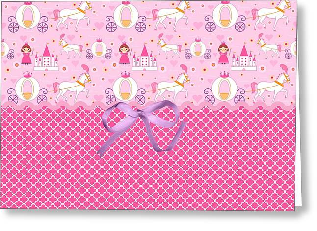 Shower Digital Art Greeting Cards - Once Upon a Princess Greeting Card by Debra  Miller