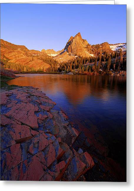Evening Lights Greeting Cards - Once Upon a Rock Greeting Card by Chad Dutson