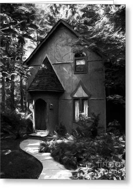Cupola Greeting Cards - Once Upon A Time BW Greeting Card by Mel Steinhauer