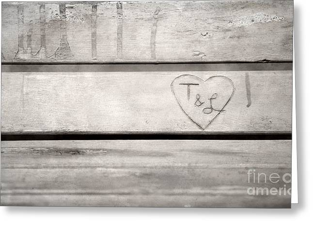 Wood Bench Greeting Cards - Once Upon A Time... Greeting Card by Casey Hanson