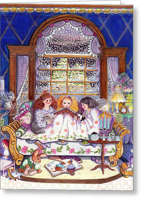 Daybed Greeting Cards - Once Upon A Time... Greeting Card by Deborah Burow