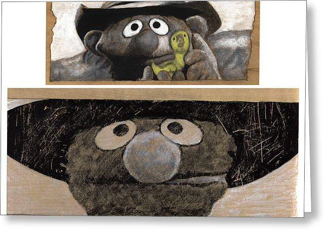 Bad Drawing Greeting Cards - Once Upon a Time in Sesame Street Greeting Card by Justin Clark