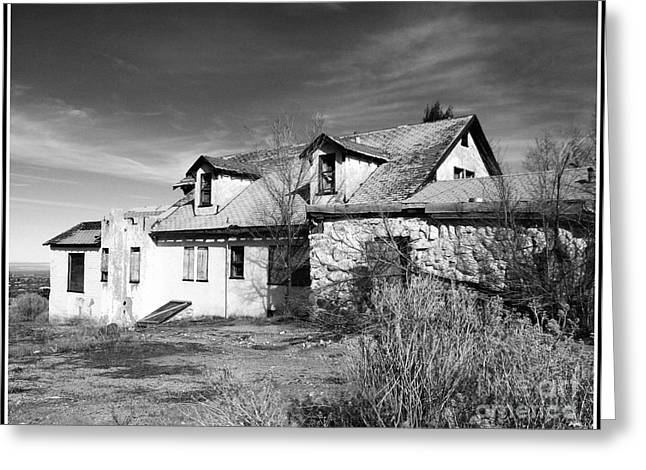 House Gable Greeting Cards - Once Upon A Time In The Desert 2 Greeting Card by Glenn McCarthy Art and Photography