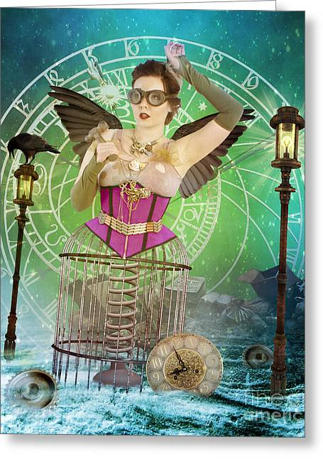 Cogs Greeting Cards - Once Upon a Time Greeting Card by Juli Scalzi