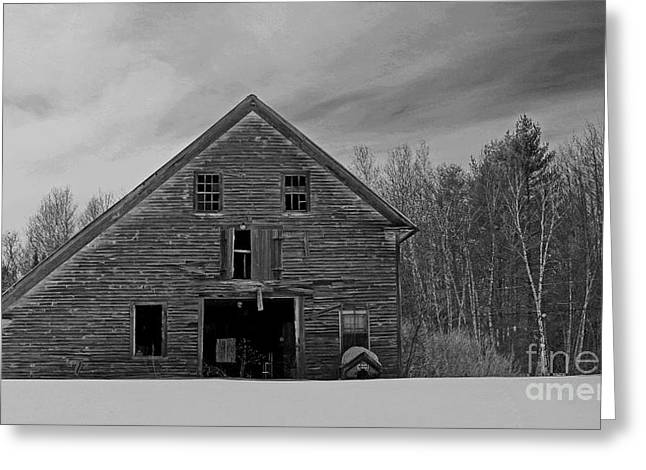 Old Maine Barns Greeting Cards - Once Upon A Time Greeting Card by Laura Mace Rand
