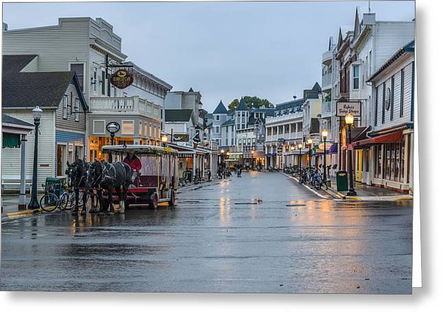 Recently Sold -  - Main Street Greeting Cards - Once Upon a Time on Main Street Greeting Card by Ken Cave