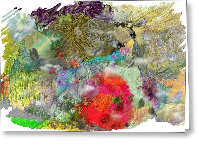 Abstract Realist Landscape Greeting Cards - Once upon a time Greeting Card by Richard CHESTER