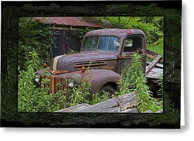 Recently Sold -  - Rusted Cars Greeting Cards - Once Upon A Time - Rusty Ford Pickup Truck Greeting Card by John Stephens