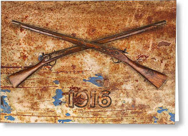 Rusted Barrels Greeting Cards - Once upon a War Greeting Card by Martin Bergsma