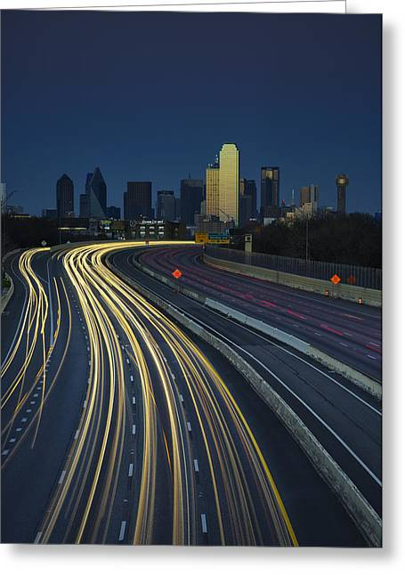 Dallas Photographs Greeting Cards - Oncoming Traffic Greeting Card by Rick Berk