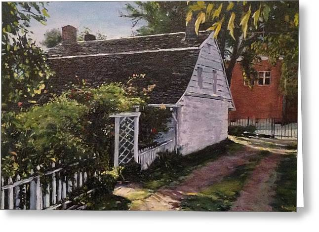 Ridgewood Greeting Cards - Onderdonk House  Garden Greeting Card by Victor SOTO