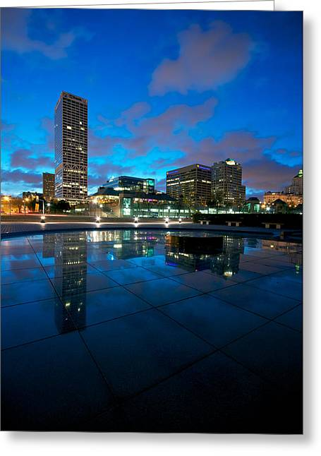 Milwaukee Greeting Cards - One Above Greeting Card by Josh Eral