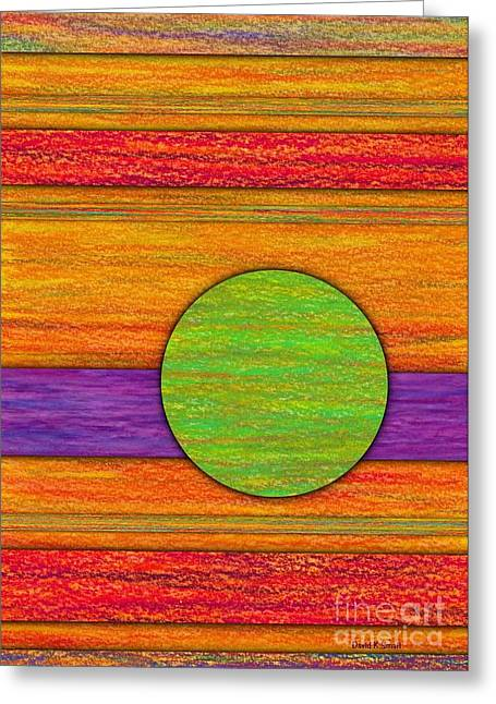 Uplifting Drawings Greeting Cards - One Appeared Greeting Card by David K Small